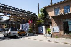 亚洲人中国,北京, 798艺术区, DADï ¼ 大山子艺术区 库存照片