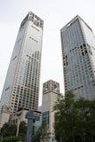 亚洲人中国,北京, CBD中心商务区,现代建筑学,许多传说上有名大厦 库存图片