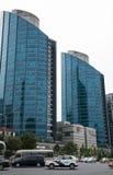 亚洲人中国,北京, CBD中心商务区,现代建筑学,许多传说上有名大厦 免版税库存图片