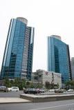 亚洲人中国,北京, CBD中心商务区,现代建筑学,许多传说上有名大厦 库存照片