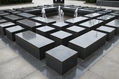亚洲人中国,喷泉,其余石台 免版税库存照片
