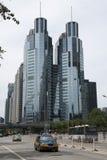 亚洲人中国,大厦,北京中心商务区,北京凯利中心 库存照片
