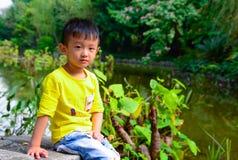 亚洲人中国黄色男孩 库存图片