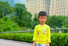 亚洲人中国黄色男孩 免版税图库摄影