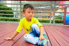 亚洲人中国黄色男孩 免版税库存照片
