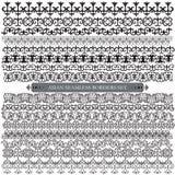 亚洲人套八件样式和装饰品 套无缝的borde 免版税库存照片