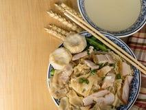 亚洲人每日吃的面条食物 免版税库存图片