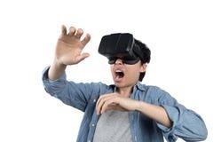 亚洲人用途VR 免版税库存图片