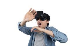 亚洲人用途VR 库存图片