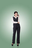 亚洲企业确信的妇女 免版税库存图片