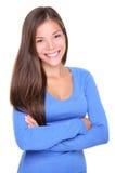 亚洲偶然微笑的妇女年轻人 库存照片