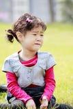亚洲儿童哭泣 免版税库存图片