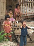 亚洲儿童女孩男孩童年亚洲人生活方式 免版税库存照片