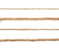 亚麻制绳索串的线 库存图片
