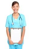 亚洲医生藏品符号 免版税库存照片