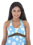 亚洲十几岁的女孩白色背景 免版税图库摄影