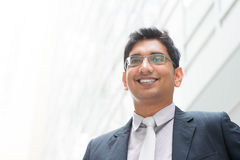 亚洲印地安商人画象  免版税库存照片