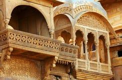 亚洲印度jaisalmer mandir宫殿 免版税图库摄影