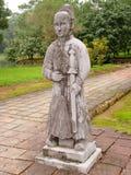 亚洲古老战士雕象 免版税库存照片