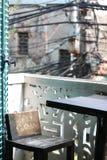 亚洲咖啡馆阳台 免版税库存图片