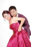 亚洲夫妇婚礼 库存照片
