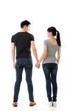 亚洲年轻夫妇背面图  库存照片