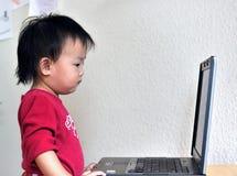 亚洲女孩一点 免版税库存照片