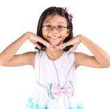 年轻亚洲女孩激活VI 库存照片