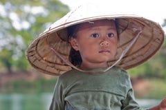 亚洲女孩纵向 库存照片