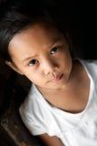 亚洲女孩画象 免版税库存图片