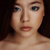 亚洲女孩画象 库存图片
