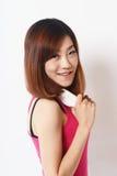 亚洲女孩画象 图库摄影