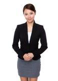 亚洲女实业家纵向 免版税库存照片