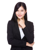 亚洲女实业家纵向 库存照片
