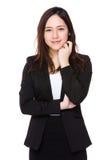 亚洲女实业家纵向 免版税库存图片