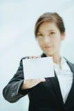 亚洲女实业家年轻人 免版税库存照片