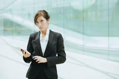 亚洲女实业家年轻人 库存图片