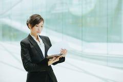 亚洲女实业家年轻人 免版税图库摄影