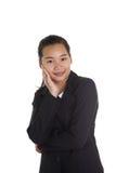 亚洲女实业家 免版税库存照片