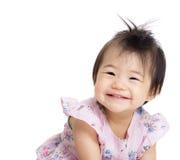 亚洲女婴微笑 免版税图库摄影