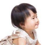 亚洲女婴边外形 免版税库存照片