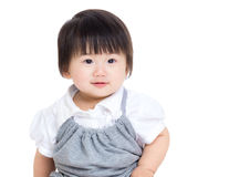 亚洲女婴 免版税图库摄影