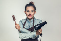 亚洲妇女举行 免版税库存照片