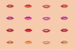 亚洲妇女嘴唇 免版税库存照片