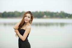 亚洲妇女画象摄影 免版税库存照片