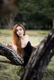 亚洲妇女画象摄影 库存照片