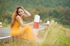 亚洲妇女画象摄影 免版税库存图片