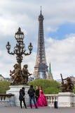 亚洲婚姻的巴黎 库存图片
