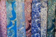 亚洲布料织品详细资料   免版税库存照片