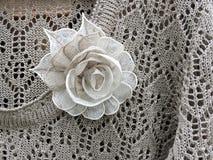 亚麻布被编织的衬衣 免版税库存照片